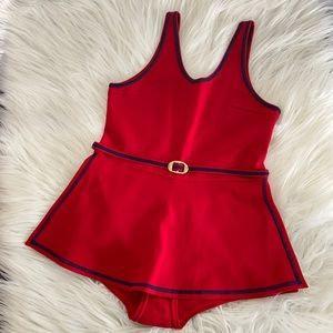 NWOT Red Vintage Swimsuit